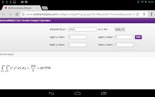 Double Integral Calculator - screenshot thumbnail