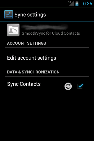 SmoothSync for Cloud Contacts- screenshot