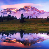 Mountain Lake. Live Wallpaper.