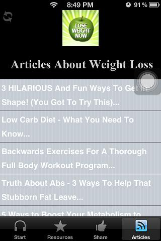 Lose Weight & Fat Hypnosis App- screenshot
