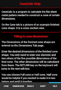 Cone Calc- screenshot thumbnail