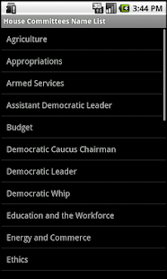 U.S. Congress Committees House- screenshot thumbnail