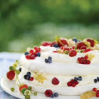 Vacherin with Whipped Cream and Mixed Berries