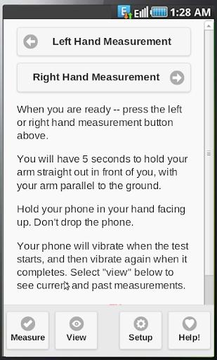 TremWatch TM Hand Tremor Test