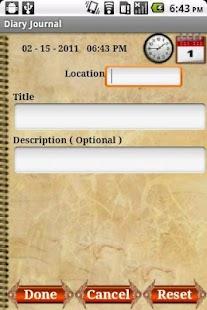Diary Journal - Personal Notes - screenshot thumbnail