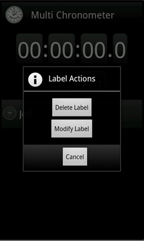 MultiChrono - Stopwatch- screenshot