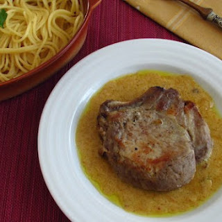 Pork Chops With Honey Mustard Sauce.
