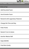 Screenshot of Pro Cheats: Pokemon SoulSilver