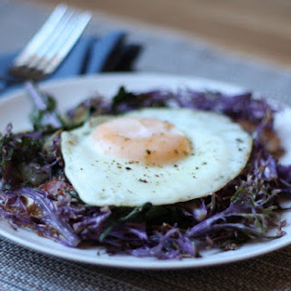 Eggs with Peacock Kale Recipe
