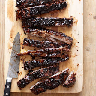 Sweet-and-Sour Balsamic-Glazed Spareribs.
