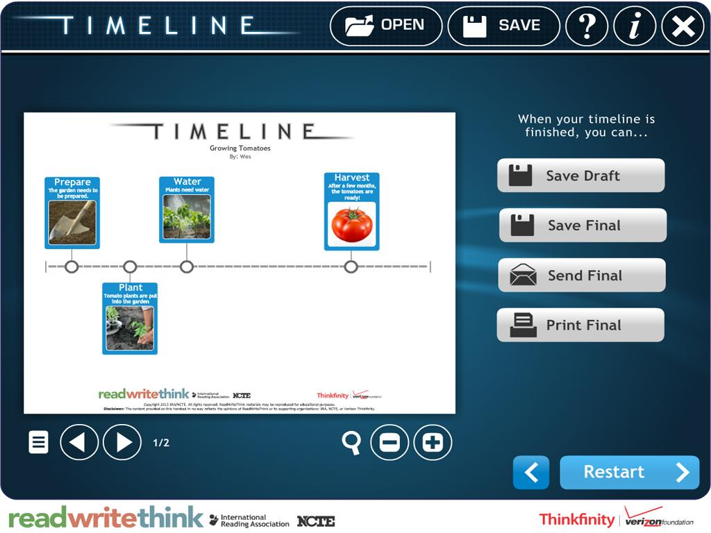 RWT Timeline - screenshot