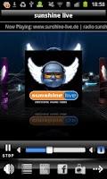 Screenshot of Radio Sunshine Live