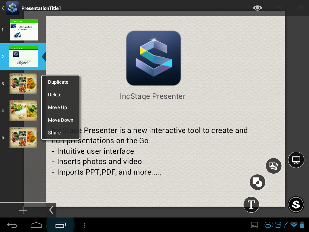 IncStage Presenter (Full) - screenshot