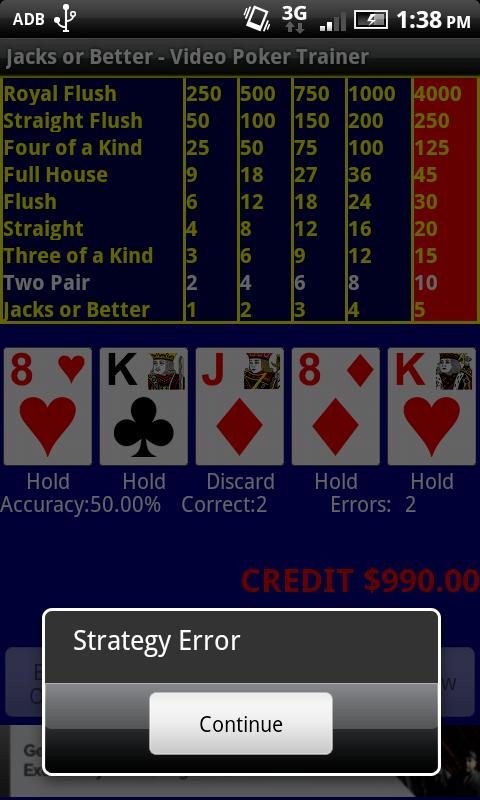 video poker 9 6 jacks or better strategy card game