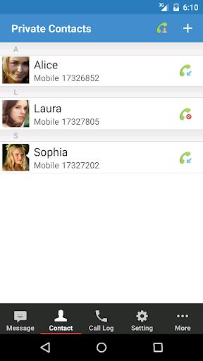 プライベートスペース 無料版 プライバシー SMSと通話