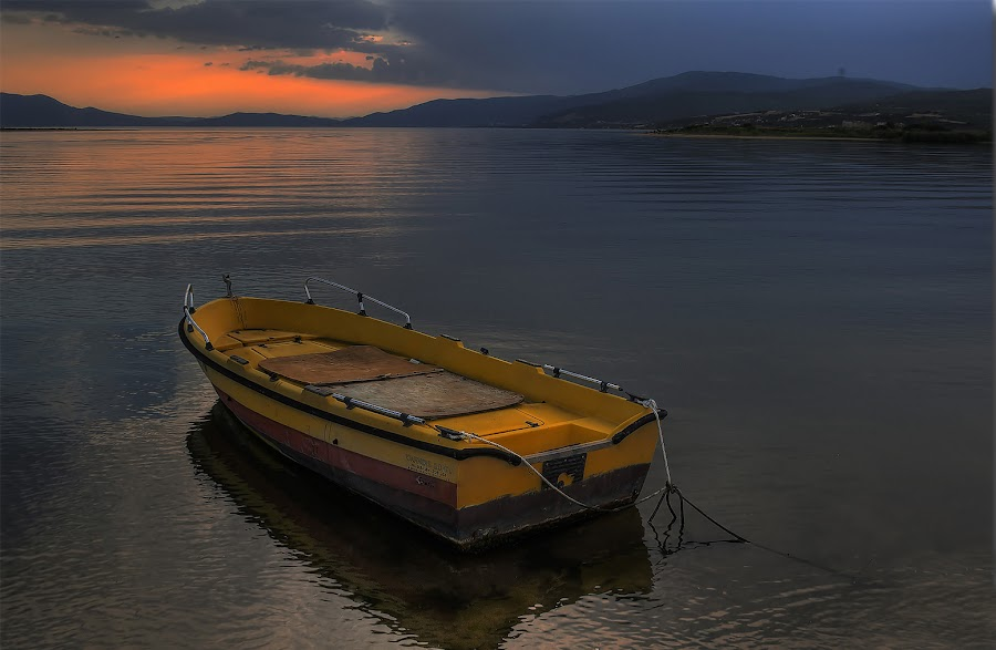 sky colors projected to earth  by Emil Athanasiou - Transportation Boats ( hellas, hdr, d90, greece, boat, nikon d90 )