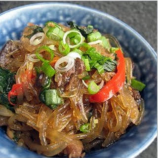 Rice Noodle, Beef and Vegetable Stir Fry.
