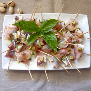 Mozzarella Jambon Cru Pistaches.