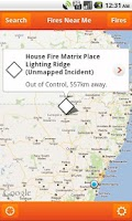 Screenshot of Fires Near Me NSW