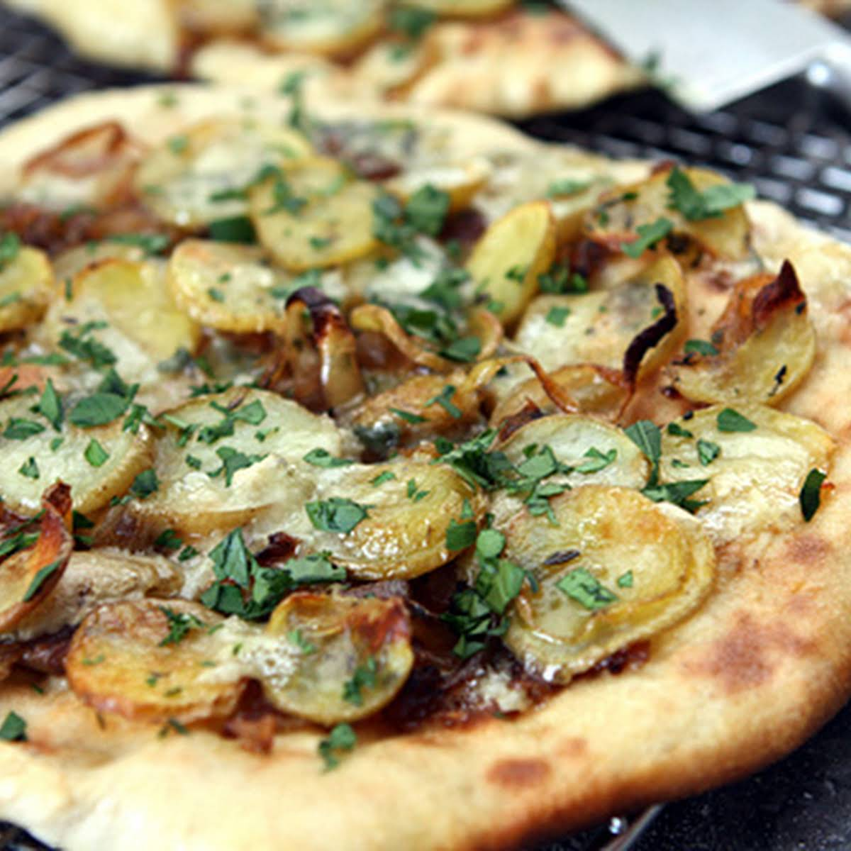 Potato and Blue Cheese Pizza