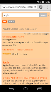 Orange Search for Google™ - screenshot thumbnail