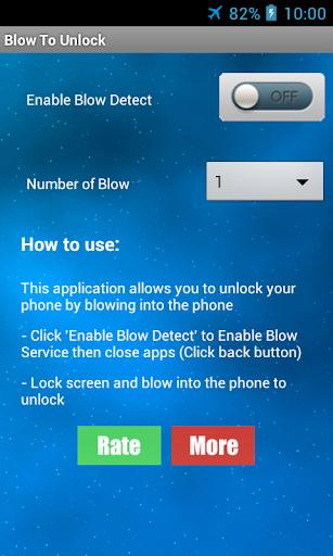 Blow To Unlock