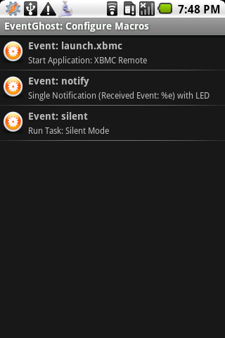 Tasker Plugin for EventGhost- screenshot