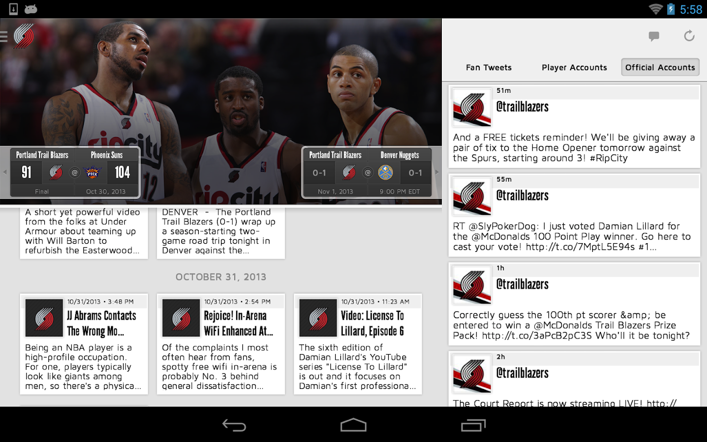 Portland Trail Blazers - screenshot