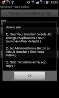 Screenshot of Advanced Home Button