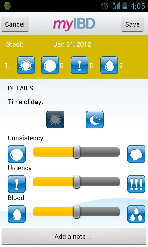 myIBD - screenshot