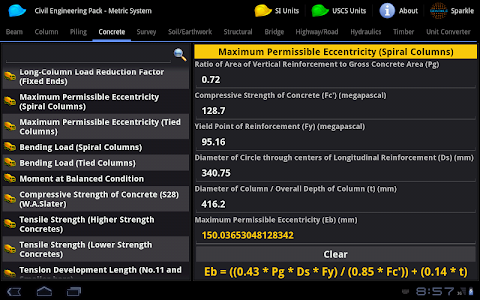 Civil Engineering Pack Tablet screenshot 2