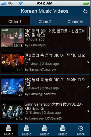 Korean Music Videos - screenshot