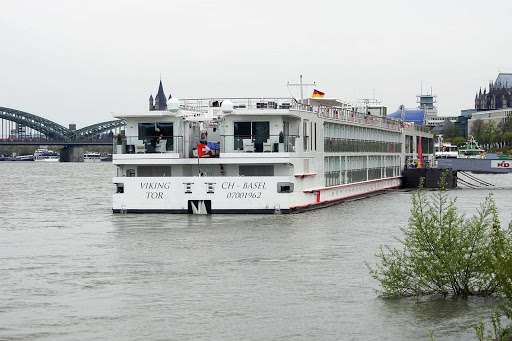 Viking-Tor-Cologne - The river cruise ship Viking Tor in Cologne, Germany.