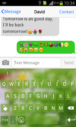 Emoji Keyboard+ Fresh Green