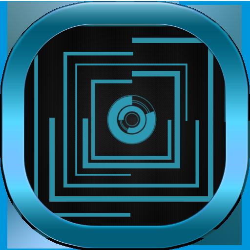 ネオンブルーテック囲碁テーマ 個人化 App LOGO-APP試玩