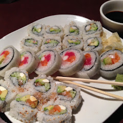 California roll (shrimp), Dallas roll, Philadelphia roll. All gluten free