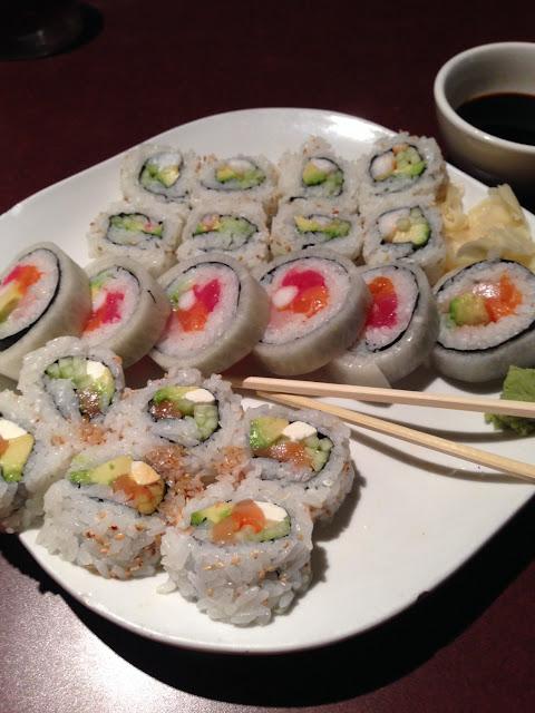 California roll (shrimp), Dallas roll, Philadelphia roll. All gluten free