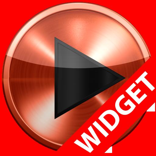 Poweramp widget COPPER METAL