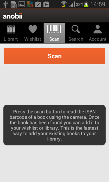Anobii Book Scanner - screenshot