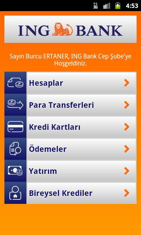 ING Mobil - screenshot