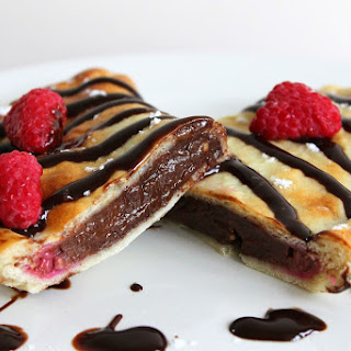Chocolate and Raspberry Calzones