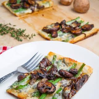 Green Bean, Mushroom and Caramelized Onion Tart.