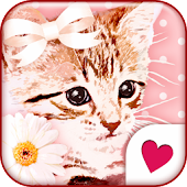 Cute wallpaper★Pinky Cat