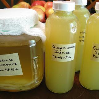 Ginger-Lemon Jasmine Kombucha.