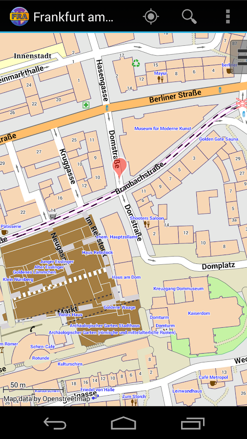 Frankfurt Offline City Map- screenshot