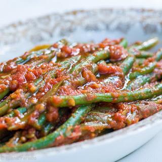 Fagiolini in umido (Green Beans in Tomato Sauce).