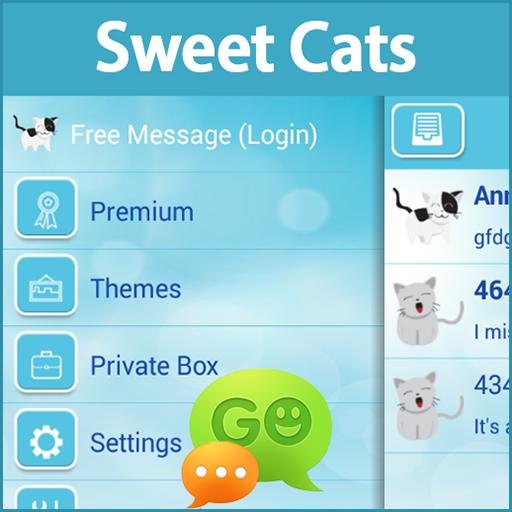 GO SMS Pro Sweet Cats 娛樂 App LOGO-APP試玩