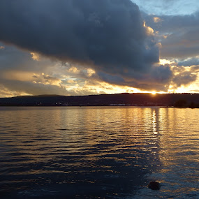 Amazing Grace by Alison Gimpel - Landscapes Sunsets & Sunrises ( clouds, duluth, sunsets, sunrays, lake superior )