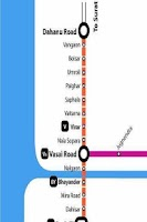 Screenshot of Mumbai Local train map