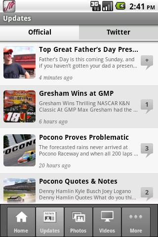 Joe Gibbs Racing iCrew - screenshot